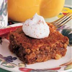 Date Pudding Cobbler  1 cup all-purpose flour  1-1/2 cups packed brown sugar, divided  2 teaspoons baking powder  1 tablespoon cold butter  1/2 cup milk  3/4 cup chopped dates  3/4 cup chopped walnuts  1 cup water                                                                                           ...