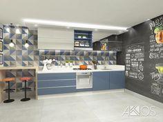Cozinha linda, utilizando o connect da @ceramicaportinari lançamento na revestir! #cozinhaplanejada #cozinha #atosarquitetura #ceramicaportinari #interiores #designdeinteriores #vraysketchup #parceriatkacabamentos #connect