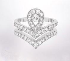 My engagement ring #chaumet-josephine #love Bague Double Joséphine Aigrette - Joaillerie Chaumet