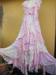 Well I can wish!!! RESERVED vintage inspired shabby bohemian gypsy dress by wildskin, $290.00