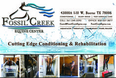 1/2 page print advertisement for Fossil Creek Equine Center.   Contact High Cotton Promotions for your marketing needs.   fossilcreekequine.com