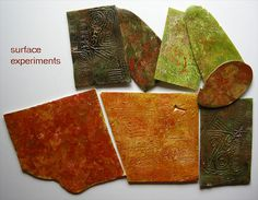 Polymer clay texture ideas