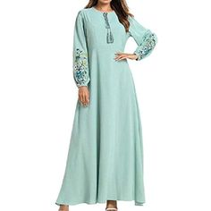 Islamic Fashion, Drawing Clothes, Embroidery Dress, Dress Outfits, Dresses, Abayas, Cold Shoulder Dress, Kaftan, Clothes For Women