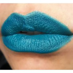 Here's our matte, vegan and cruelty-free shade SIRENA. Photo by Teal Makeup, Blue Lipstick, Cruelty Free, Blue Green, Fragrance, Cosmetics, Vegan, Beauty, Color