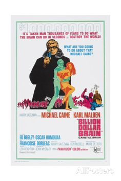 Billion Dollar Brain, Michael Caine, 1967 Posters AllPosters.fi-sivustossa