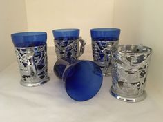 Retro-Silver-Blue-Nude-Lady-Handles-Beer-Steins