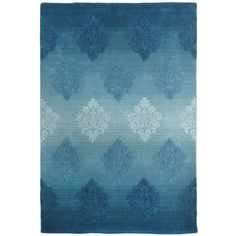 Ombre Rug with Damask Overtufting - Teal from Pier 1. Gorgeous!
