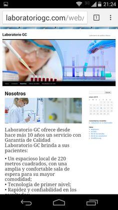 Desarrollo del website de Laboratorio en HTML5 y el Blog BootStrap. www.laboratoriogc.com