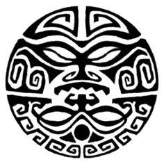 polynesian designs and patterns | Samoan Circle Tat Tattoo 01