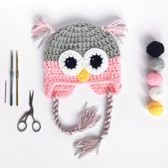* Handmade to order - Please allow days * Acrylic * Machine Washable * Super Cute If you'd like different colour please let me know at checkout. Kids Beanies, Owl Hat, Baby Owls, Crochet Baby Hats, Tassels, Super Cute, Colours, Handmade, Videos