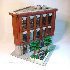 Modular Bank by Creating15. See a video walkthrough at archbrick.com #lego #legoarchitecture #legobuilding #legomodular #legophotography #legophoto #legos #legobuild #legostagram #legoideas