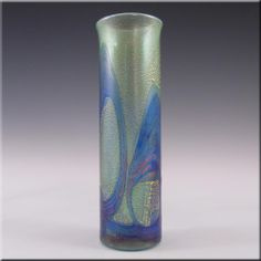Isle of Wight Studio/Michael Harris Golden Peacock Glass Vase - £69.99