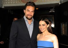 Jason Momoa and Emilia Clarke at event of Game of Thrones