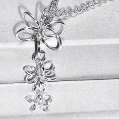 Silver Flowers pendant by ACD Jewellery @ etsy.com/shop/acdjewellery