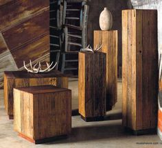 Roost Reclaimed Wood Tables & Pedestals *Next Day Shipping* – Modish Store