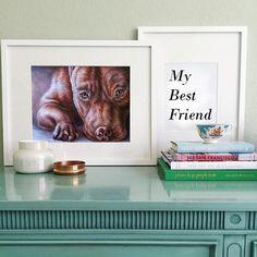 Dog art dog poster pit bull pitbull Dog by ArtistrybyLisaMarie
