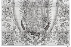 Pattern for Our Lady of Guadalupe cross stitch pt. Cross Stitch Charts, Cross Stitch Embroidery, Cross Stitch Patterns, Crochet Patterns, Mary And Jesus, Religious Cross, Christmas Cross, Needlepoint, Needlework