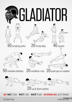 Gladiator Workout Gladiator Workout!!