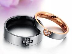 2016 Fashion Jewelry Wholesale New Style Cross Love Stainless Steel Couples Rings For Women / Men