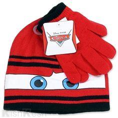 213b58eff10 Lightning McQueen Toddler Boys Beanie and Gloves Set.  Disney  Winter  Hats  Boys