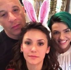 Nina on set with Vin Diesel & Ruby Rose