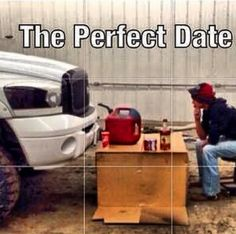 Haha! Nothing like date night with your truck!!