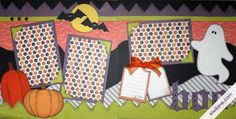 If you are new to Kiwi Lane Designs see what a Beginner Halloween Scrapbook Layout looks like using the KLD Designer Templates.