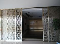 Gallery of laser cut screens show the photos and the type of metal screens made by laser cutting or welding of stainless steel with plating finishing.