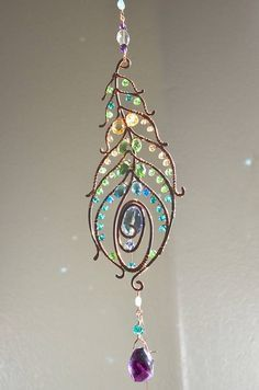 Feather sun catcher