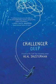 Challenger deep by Neal Shusterman.  A brilliant but troubled high school student pretends to engage in sports activities and uses his artistic talents to document his voyage to the world's most southern point while his friends observe his increasingly unbalanced behavior.