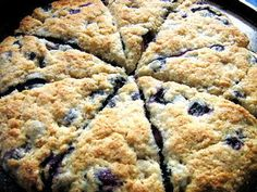 I am a scone fanatic.  Always looking for a quick scone recipe. Bisquick Blueberry Scones photo