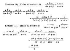 Resultado de imagen para multiplicaciones o divisiones con expresiones algebraicas.