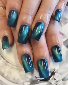 Blue Cat Eye Nails - Nailpro