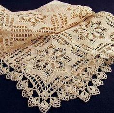 Home Decor Crochet Patterns Part 53 - Beautiful Crochet Patterns and Knitting Patterns Filet Crochet, Crochet Doily Diagram, Crochet Motifs, Crochet Squares, Thread Crochet, Crochet Doilies, Crochet Patterns, Crochet Tablecloth Pattern, Crochet Blanket Edging