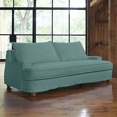 Tiger Sofa  | Crate and Barrel - new and gorgeous in aqua linen or optic white