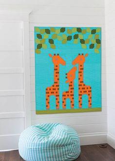 Giraffe Family Quilt Kit