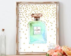 Chanel Perfume Print Floral Chanel Art Chanel No 5 di AdornMyWall