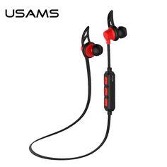 USAMS sweatproof stereo bluetooth 4.0 headphones wireless sports earphones headset with MIC Microphone for iphone