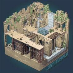 Lost temple https://www.artstation.com/p/ymALJ Thibault Simar 2D-3D artist -- Share via Artstation Android App, Artstation © 2017