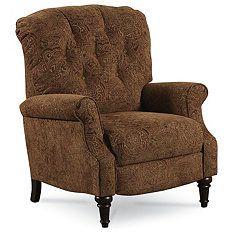 Lane Furniture Liza High-Leg Recliner, Paisley