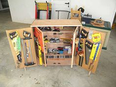 Great rolling tool cart.  Inner and outer sets of doors mean more vertical storage space. The screw storage at the bottom is a nice touch.