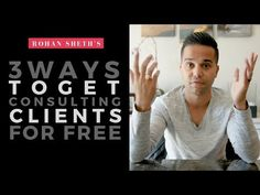 Learn some tips to get consulting clients for free from Rohan. If you're just starting your consulting business it is a must for you to see. You can ask questions in the comment section! Make Money Online, How To Make Money, How To Get, Social Media Marketing Agency, Free Youtube, This Or That Questions, Learning, Business, Videos