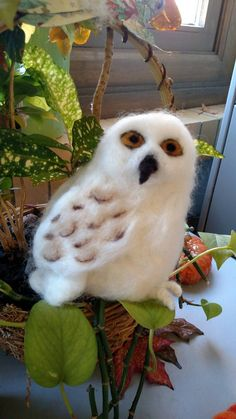 Check out this item in my Etsy shop https://www.etsy.com/listing/254695951/wool-felted-snowy-owl