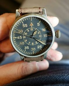 This Pilot watch Type B from Laco which is brand new although it looks old and beaten up. Laco had given this Remake with a touch of vintage effect!