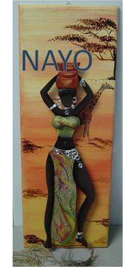 NAYO African Life, African Women, Fabric Pictures, Pictures To Draw, Black Women Art, Black Art, African Paintings, African Crafts, Africa Art