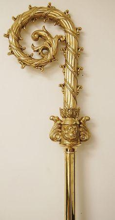 BISHOPS CROZIERS | Bishop Crosier (Crozier), 22k Gold Plate ...