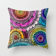 mandala Throw Pillow by Goyye - $20.00