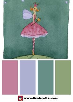 Magical Color Palette: Felicity Wishes VI, Art Print by Emma Thomson
