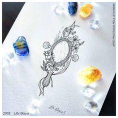 Mirror Tattoos, Shell Tattoos, Life Tattoos, Phrase Tattoos, Tatoos, Orisha, Henna Designs, Tattoo Designs, Snake Tattoo