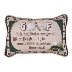 Funny Golf Quote Decorative Throw Pillows